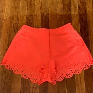 NWOT A. PEACH Bright Coral Colored Shorts